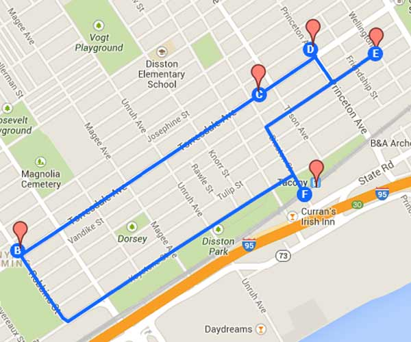 Follow The Tacony Hoagie Trail